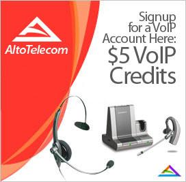 Signup with $5 for a VoIP Account
